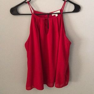 Red business professional tank